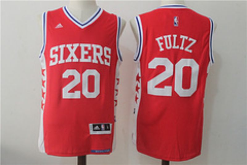 Men Philadelphia 76ers 20 Fultz Red NBA Jerseys