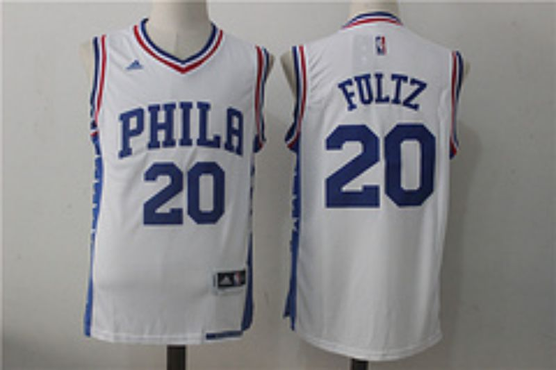 Men Philadelphia 76ers 20 Fultz White NBA Jerseys