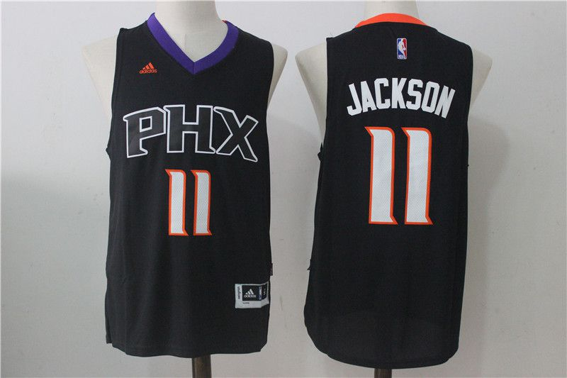 Men Phoenix Suns 11 Josh Jackson Black NBA Jerseys