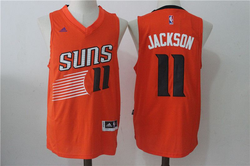 Men Phoenix Suns 11 Josh Jackson Orange NBA Jerseys