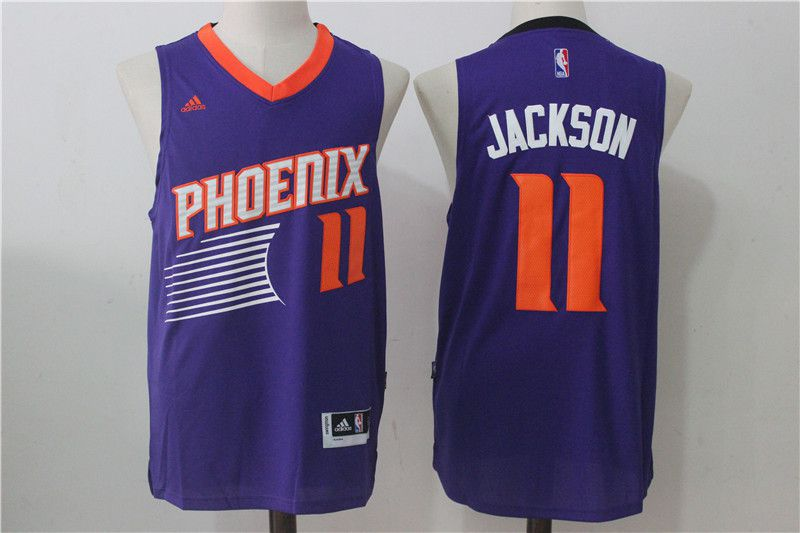 Men Phoenix Suns 11 Josh Jackson Purple NBA Jerseys