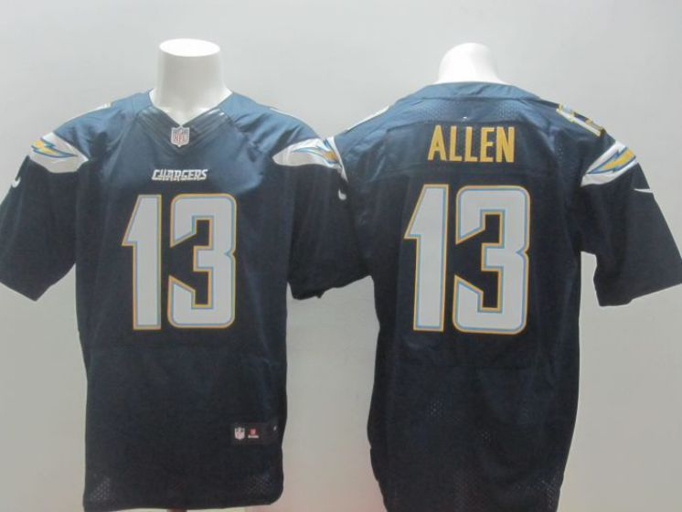 Men Los Angeles Chargers 13 Allen blue NFL Nike Elite Jerseys