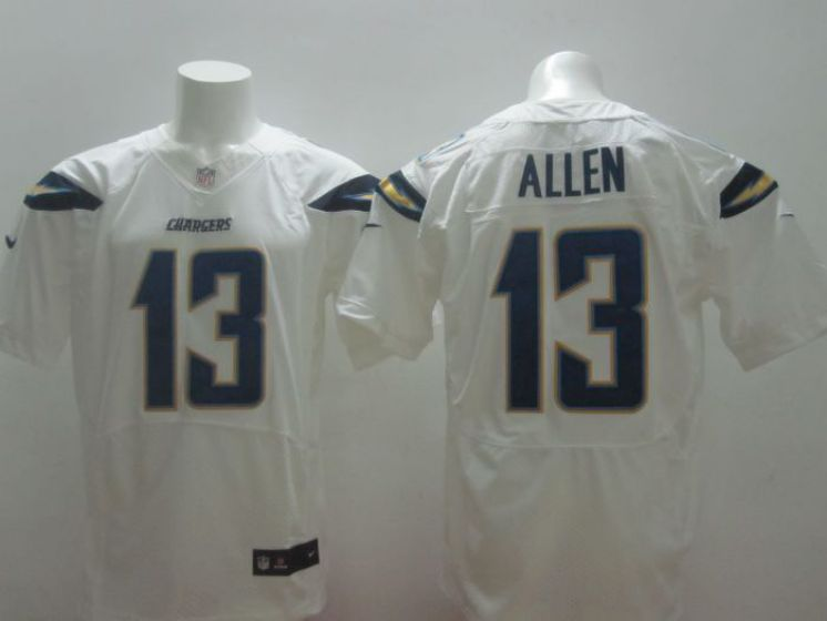 Men Los Angeles Chargers 13 Allen white NFL Nike Elite Jerseys
