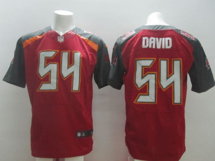 Men Tampa Bay Buccaneers 54 David red Nike NFL elite jersey