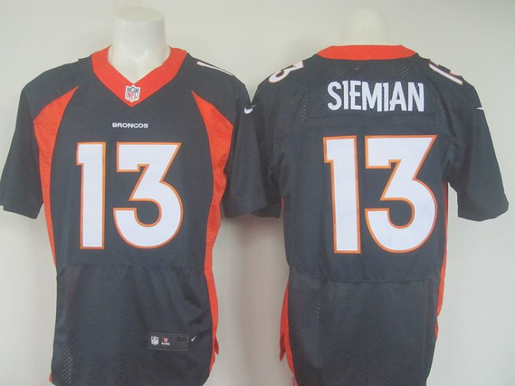 NEW Nike NFL Denver Broncos 13 Siemian Blue elite jersey