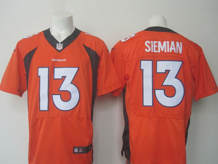 NEW Nike NFL Denver Broncos 13 Siemian orange elite jersey
