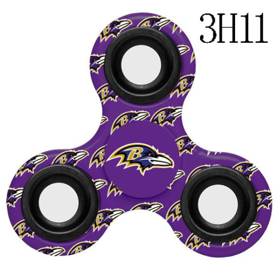NFL Baltimore Ravens LogoThree-Way Fidget Spinner-3H11
