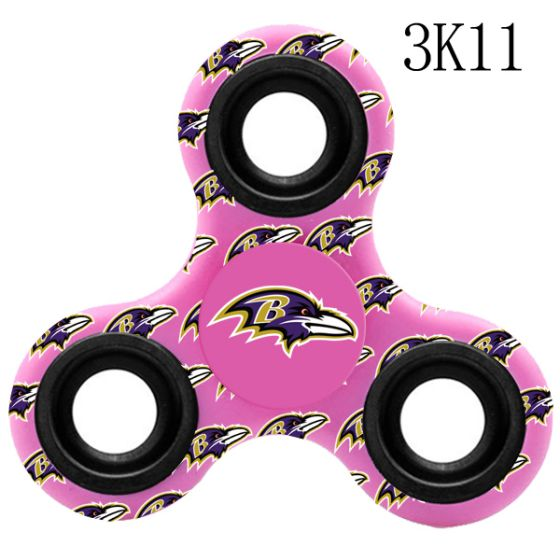 NFL Baltimore Ravens LogoThree-Way Fidget Spinner-3K11