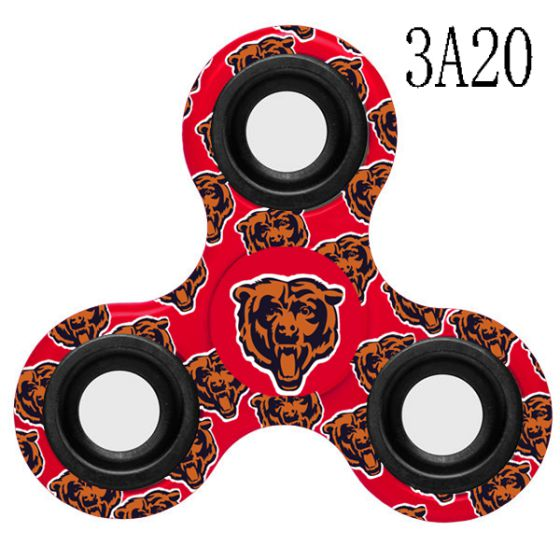 NFL Chicago Bears Logo Three-Way Fidget Spinner- 3A20