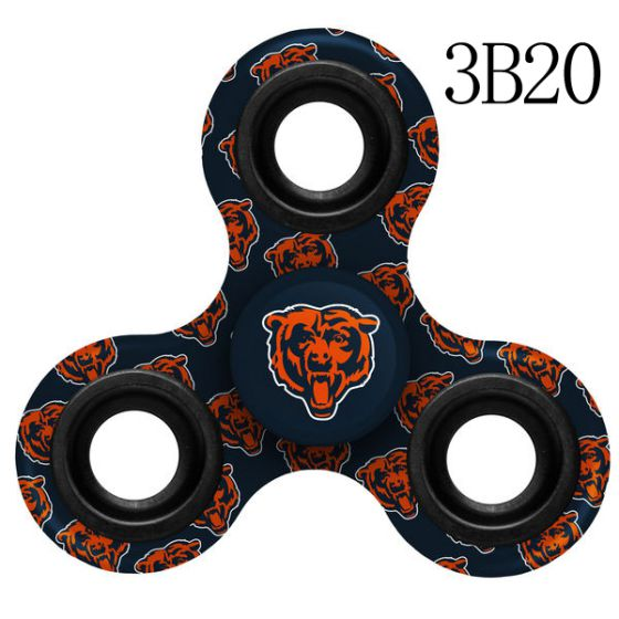 NFL Chicago Bears Logo Three-Way Fidget Spinner- 3B20