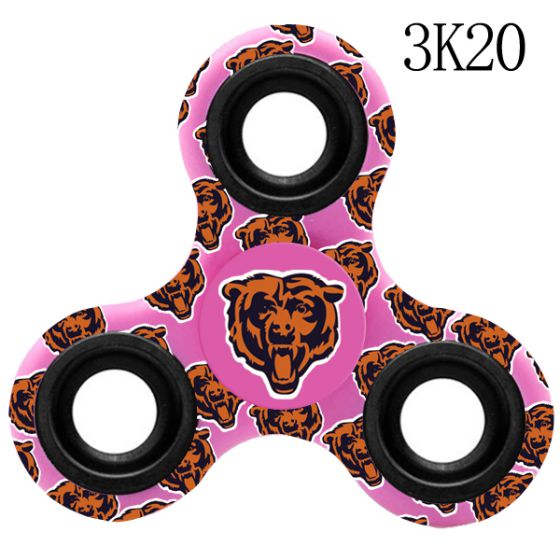 NFL Chicago Bears Logo Three-Way Fidget Spinner- 3K20