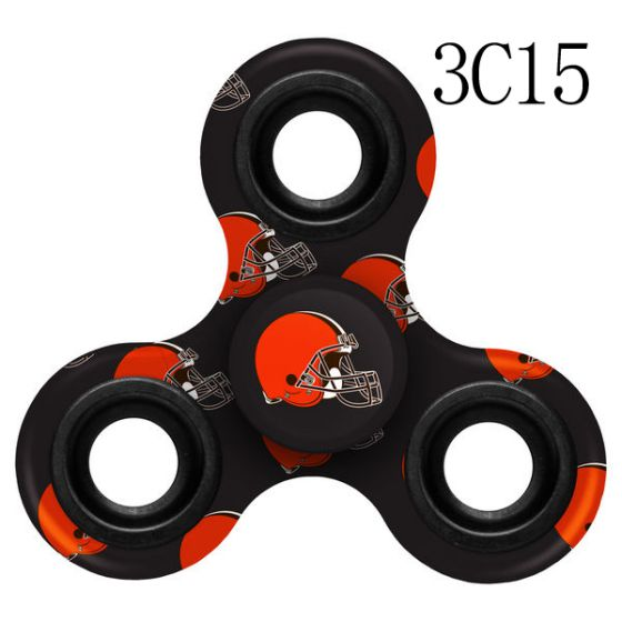 NFL Cleveland Browns Logo Three-Way Fidget Spinner-3C15