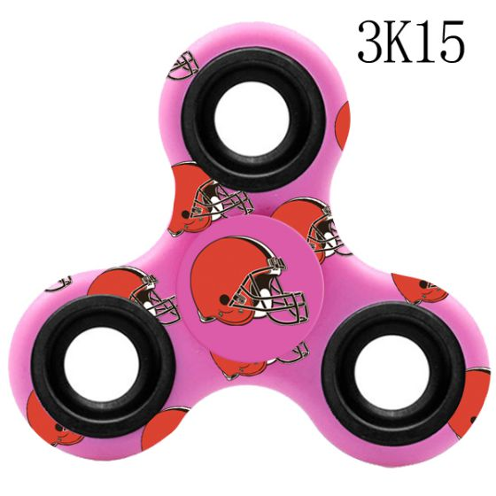 NFL Cleveland Browns Logo Three-Way Fidget Spinner-3K15