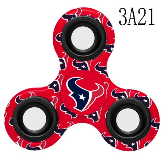 NFL Houston TexansLogoThree-Way Fidget Spinner-3A21