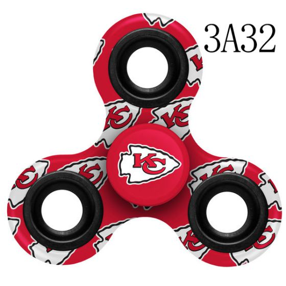 NFL KANSAS CITY CHIEFS Logo Three-Way Fidget Spinner -3A32