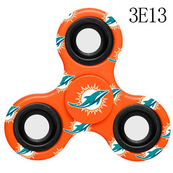NFL MIAMI DOLPHINS LogoThree-Way Fidget Spinner-3E13