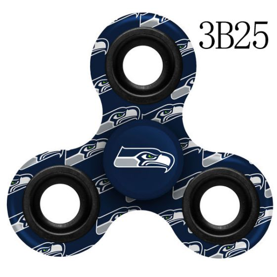 NFL NFL Seattle Seahawks Logo Three-Way Fidget Spinner-3B25