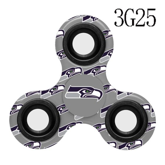 NFL NFL Seattle Seahawks Logo Three-Way Fidget Spinner-3G25