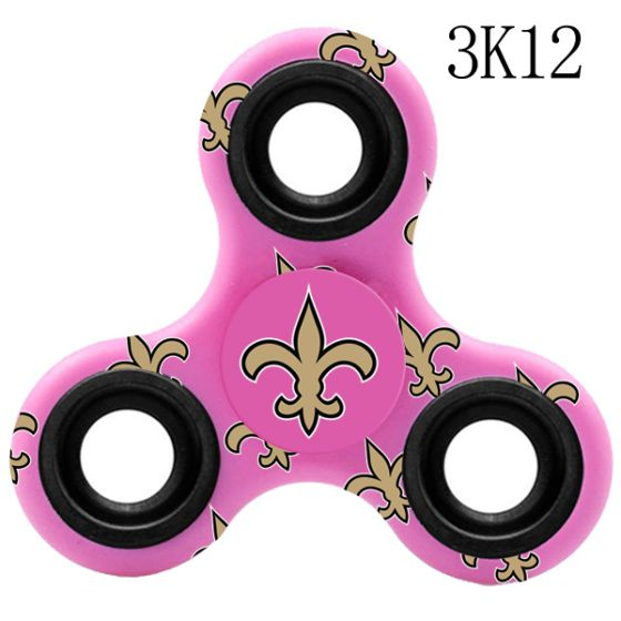 NFL New Orleans Saints Logo Three-Way Fidget Spinner- 3K12