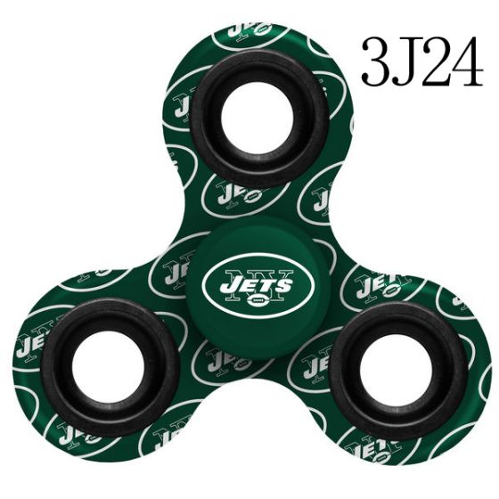 NFL New York Jets LogoThree-Way Fidget Spinner-3J24