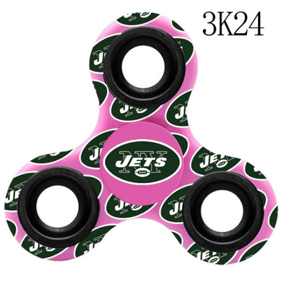 NFL New York Jets LogoThree-Way Fidget Spinner-3K24