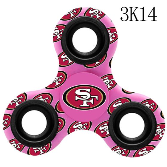 NFL San Francisco 49ers Logo Three-Way Fidget Spinner- 3K14