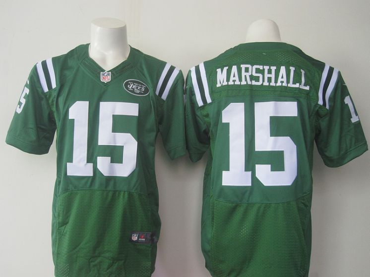 New York Jets 15 Brandon Marshall Green Men Nike NFL Elite Jerseys