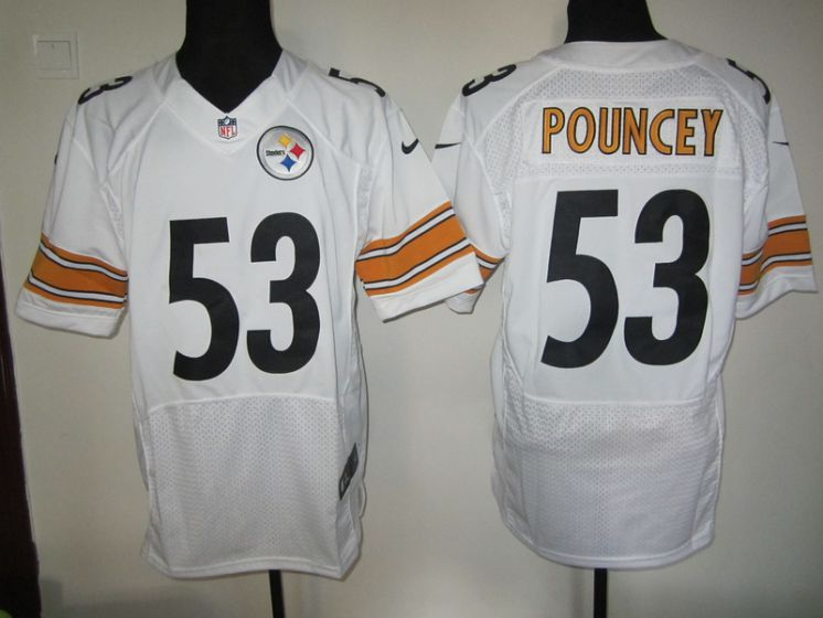 Pittsburgh Steelers 53 Pouncey nike NFL white elite jersey