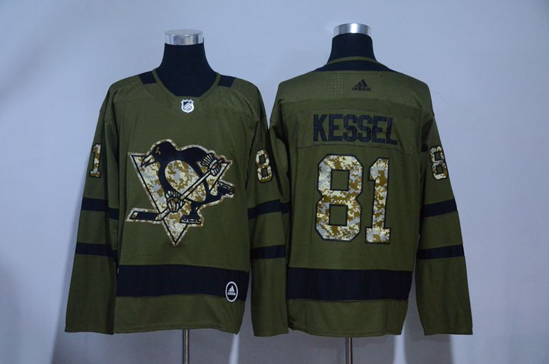 MEN 2017 NHL Pittsburgh Penguins 81 Kessel green Adidas Stitched Jersey