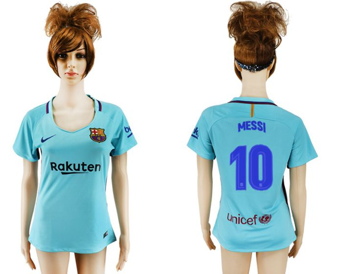 2017-2018 Club Barcelona away aaa verion women 10 Mei soccer jersey
