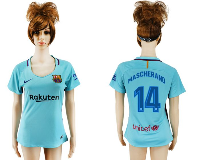 2017-2018 Club Barcelona loin aaa verion femmes 14 maillot de football