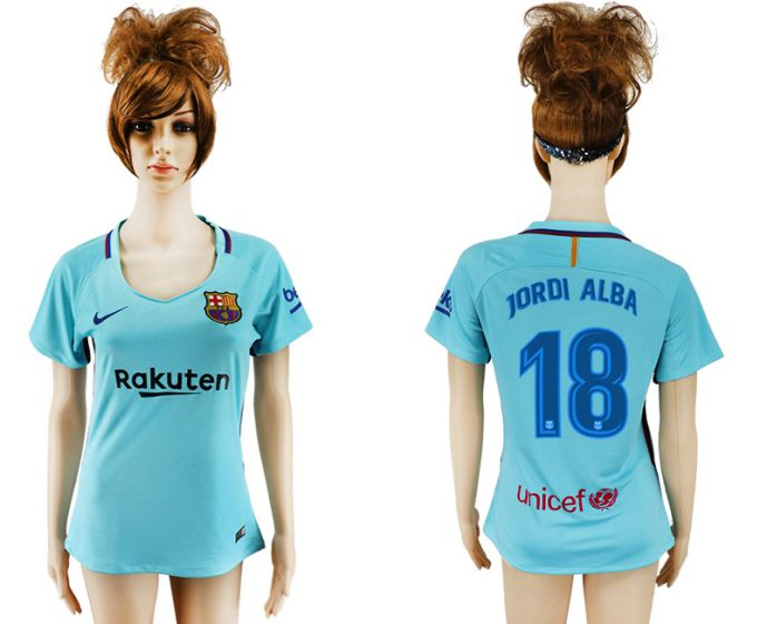 2017-2018 Club Barcelona away aaa verion women 18 soccer jersey