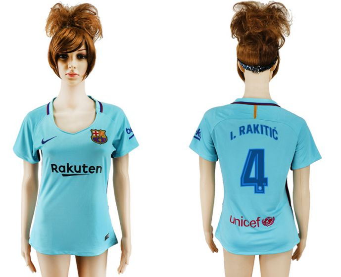 2017-2018 Club Barcelona away aaa verion women 4 soccer jersey