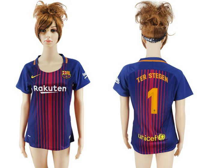 2017-2018 Club Barcelona home aaa verion women 1 soccer jersey