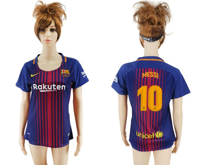 2017-2018 Club Barcelona home aaa verion women 10 soccer jersey