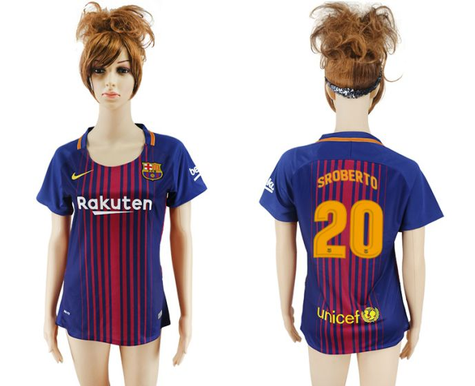 2017-2018 Club Barcelona home aaa verion women 20 soccer jersey