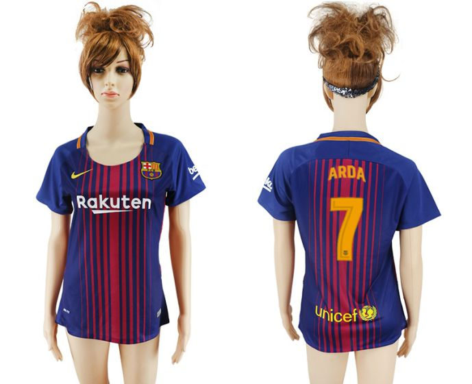 2017-2018 Club Barcelona home aaa verion women 7 soccer jersey