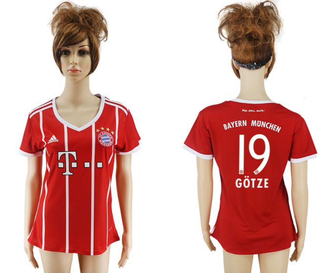 2017-2018 Club Bayern Munich home aaa verion women 19 soccer jersey