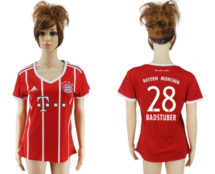 2017-2018 Club Bayern Munich home aaa verion women 28 soccer jersey