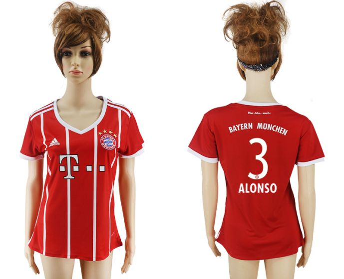 2017-2018 Club Bayern Munich home aaa verion women 3 soccer jersey