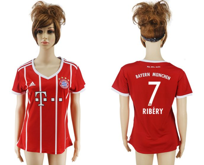 2017-2018 Club Bayern Munich home aaa verion women 7 soccer jersey