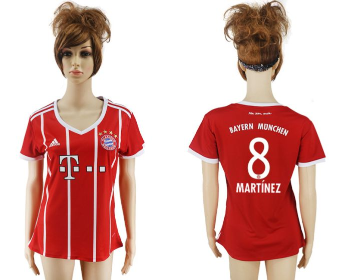 2017-2018 Club Bayern Munich home aaa verion women 8 soccer jersey