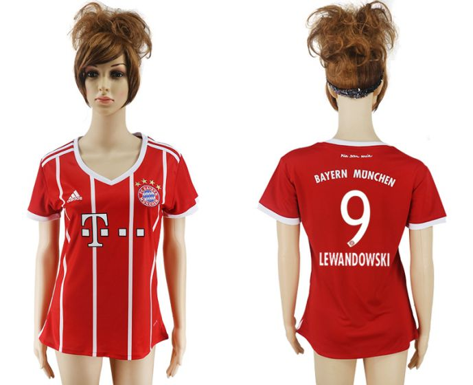 2017-2018 Club Bayern Munich home aaa verion women 9 soccer jersey