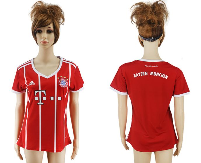 2017-2018 Club Bayern Munich home aaa verion women soccer jersey