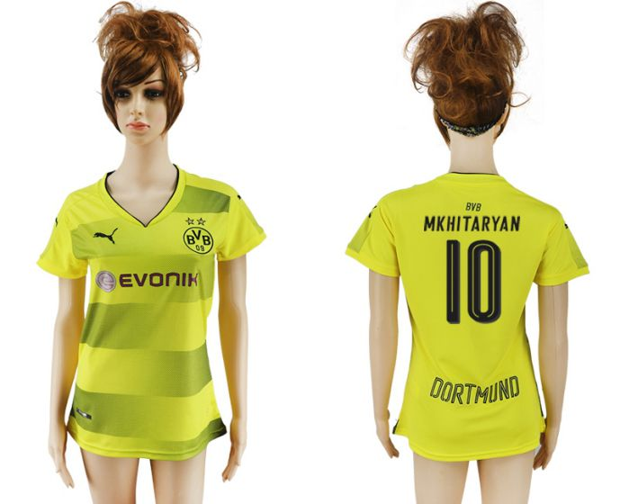 2017-2018 Club Dortmund home aaa verion women 10 soccer jersey