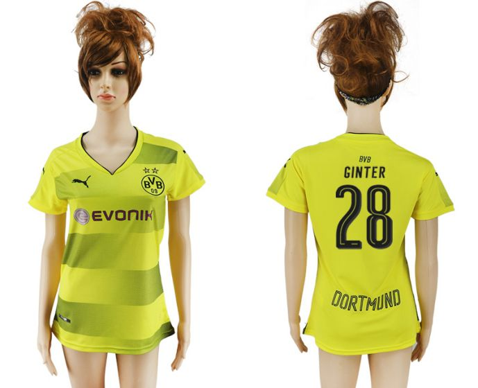 2017-2018 Club Dortmund home aaa verion women 28 soccer jersey