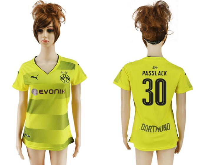 2017-2018 Club Dortmund home aaa verion women 30 soccer jersey