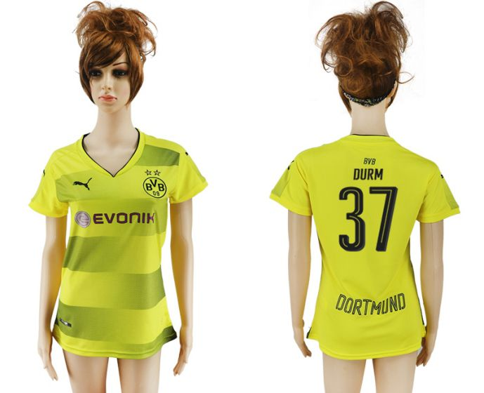 2017-2018 Club Dortmund home aaa verion women 37 soccer jersey
