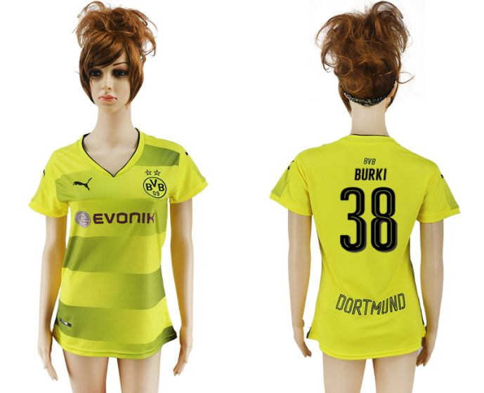 2017-2018 Club Dortmund home aaa verion women 38 soccer jersey