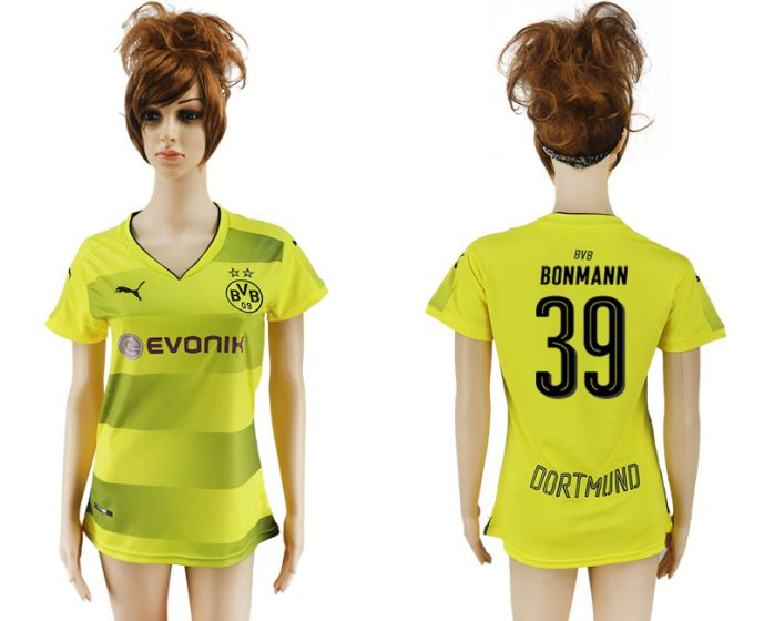 2017-2018 Club Dortmund home aaa verion women 39 soccer jersey
